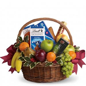 Image of 6711 Fruits and Sweets Christmas Basket  from Mister Florist