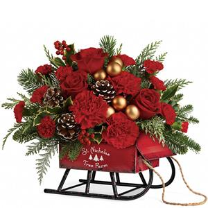 Image of 7135 Vintage Sleigh Bouquet from Mister Florist