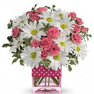 Image of 7128 Polka Dots and Posies from Arroyo Grande Flower Shop.com™