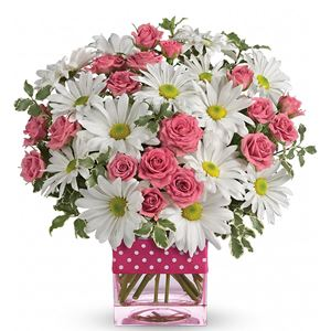 Image of 7129 Polka Dots and Posies  from Lompoc Florist & Flower Shop