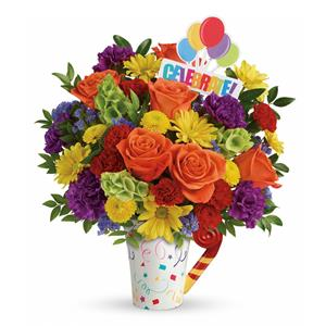 Image of 8154 Celebrate Bouquet from Santa Barbara Flowers