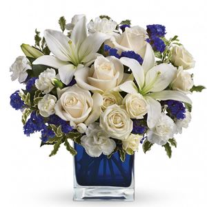 Image of 7705 Sapphire Skies Bouquet  from Rose of Sharon Florist