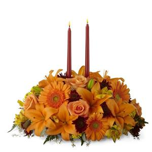Image of 3253 Bright Autumn Centerpiece from Rose of Sharon Florist