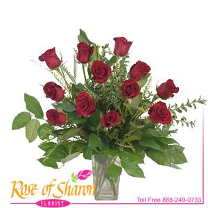 Image of 91002 One Dozen Roses from Lompoc Florist & Flower Shop