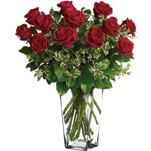 Image of 91007 One Dozen Roses from Lompoc Florist & Flower Shop