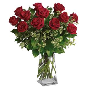Image of 91008 One Dozen Roses from Lompoc Florist & Flower Shop