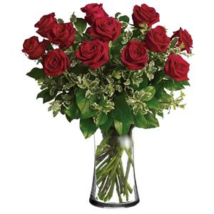 Image of 91009 One Dozen Roses from Lompoc Florist & Flower Shop