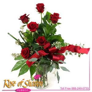 Image of 92488 Six Roses from Rose of Sharon Florist