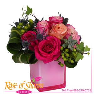 Image of 92538 Rosana in Rose Cube from Rose of Sharon Florist