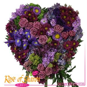 Image of 2716 Amethyst Heart Tribute from Rose of Sharon Florist