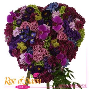 Image of 2761 Amethyst Heart Premium Tribute from Rose of Sharon Florist