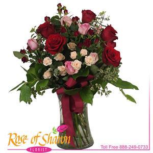 Image of 2797 Amaya Premium Rose Bouquet from Rose of Sharon Florist