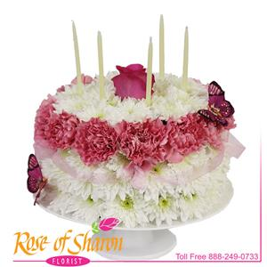 Image of 2849 Lush Pastel Cake from Santa Barbara Flowers