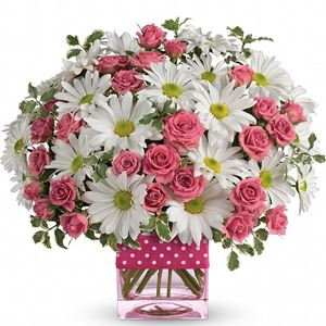 Image of 7130 Polka Dots and Posies  from Rose of Sharon Florist