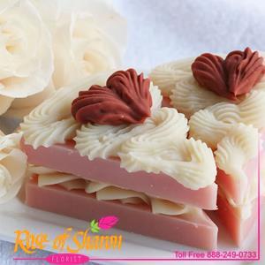 Rose Scented Cake Slice