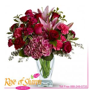Image of 1331 Blush of Burgundy from Rose of Sharon Florist