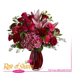 Image of 1332 Blush of Burgundy from Rose of Sharon Florist