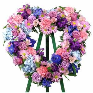 Feminine Reflections Heart Wreath