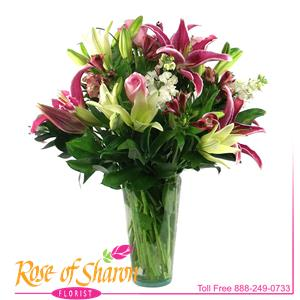 Image of 2162 Lily Vase from Rose of Sharon Florist