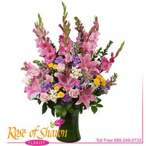 Image of 2297 Celestia Vase Arrangement from Rose of Sharon Florist