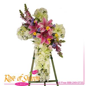 Cross Tributes from Rose of Sharon Florist
