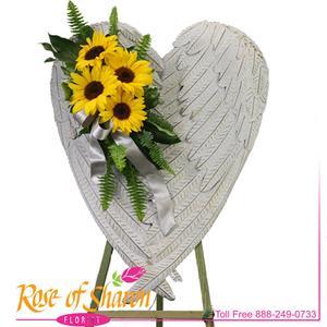 Faida with Sunflowers