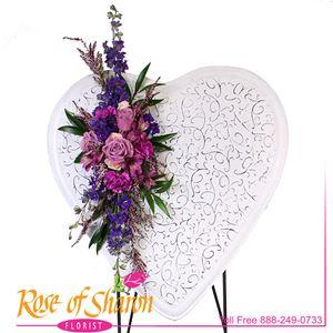 Shabby Floral Heart