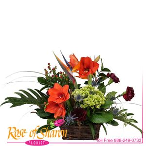 Autumn Joy Basket Arrangement