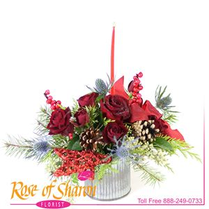 Image of 2687 Miki Christmas Bouquet from Rose of Sharon Florist