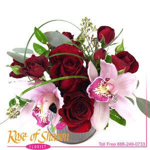 Image of 2694 Miki Rose & Orchid from Rose of Sharon Florist