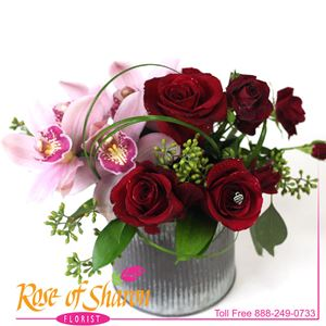 Image of 2695 Miki Rose & Orchid from Rose of Sharon Florist