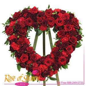 Heart Tributes from Rose of Sharon Florist