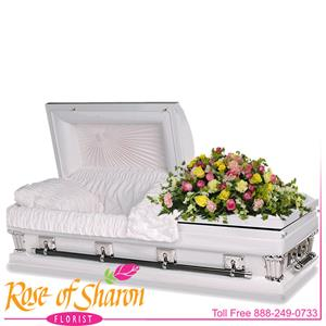 Children's Casket Flowers from Rose of Sharon Florist