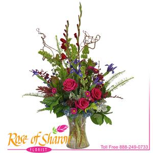 Image of 2844 Indigo Premium Arrangement from Rose of Sharon Florist